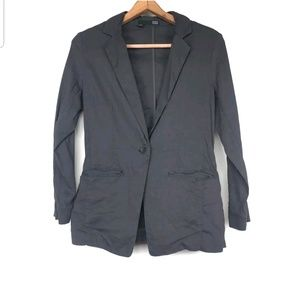 Eileen Fisher Linen Blend Jacket Blazer Stretchy